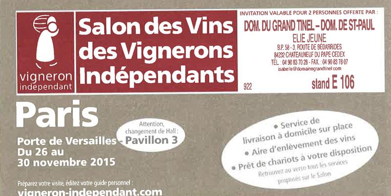 Domaine saint paul domaine saint paul - Salon des vignerons independants rennes ...